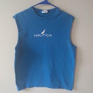 5/$25 SALE 🦩 Nautica Blue Sleeveless Shirt M